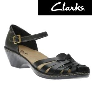 Clarks The Wendy Black woven leather Maryjanes 7